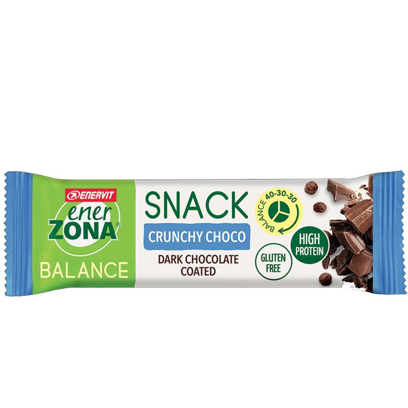 SNACK BALANCE 40-30-30 ENERZONA CRUNCHY CHOCO 33 GRAMMI - Deliziosa barretta con apporto bilanciato gusto Cioccolato