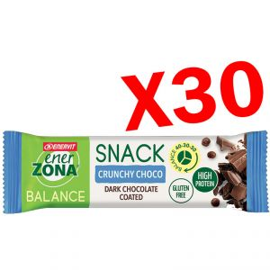 SNACK BALANCE 40-30-30 ENERZONA CRUNCHY CHOCO Conf 30 Barrette da 33 g - Snack ad apporto bilanciato gusto Cioccolato
