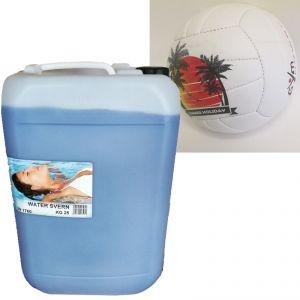 WATER SVERN Formulato liquido 25 kg per la CONSERVAZIONE dell'acqua durante il periodo invernale + Palla da Beach Volley