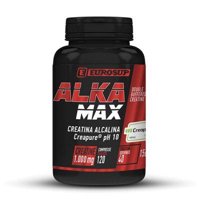 ALKA MAX - EUROSUP - CREATINA ALCALINA Creapure® pH 10 - 120 cpr per attività fisica intensa