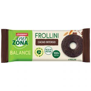 ENERZONA FROLLINO CACAO INT MONO - Frollini Monodose Cacao Intenso - 1X24g - Frollini Balance 40-30-30 - ENERVIT