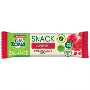 Enerzona Balance 40-30-30 Snack barretta da 25 g gusto Superfruit con base di Cioccolato