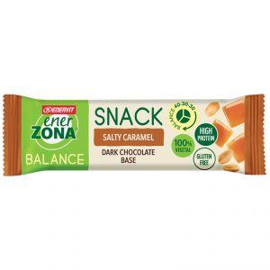Enerzona Balance 40-30-30 Snack barretta da 25 g gusto Salty Caramel con base di Cioccolato