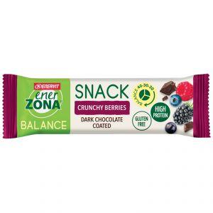 Enerzona Balance 40-30-30 Snack barretta da 33 g gusto Crunchy Berries ricoperta di Cioccolato
