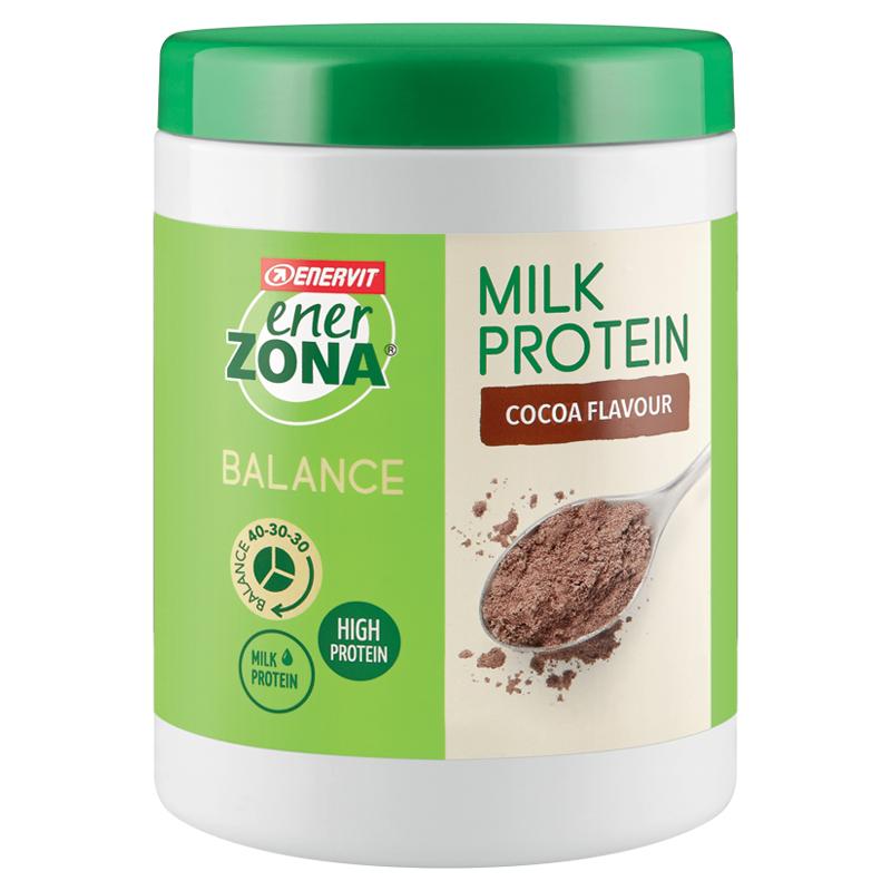 ENERZONA Balance 40-30-30 Milk Protein gusto Latte e Cacao 230g  Polvere a base di Proteine isolate