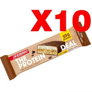 ENERVIT The Protein Deal Bar gusto Crispy Cookie 55g - 10 Barrette Proteiche