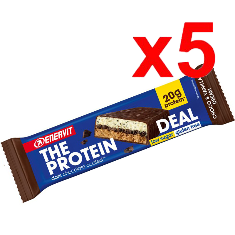 ENERVIT The Protein Deal Bar gusto Choco & Vanilla Dream 55g 5 Barrette Proteiche