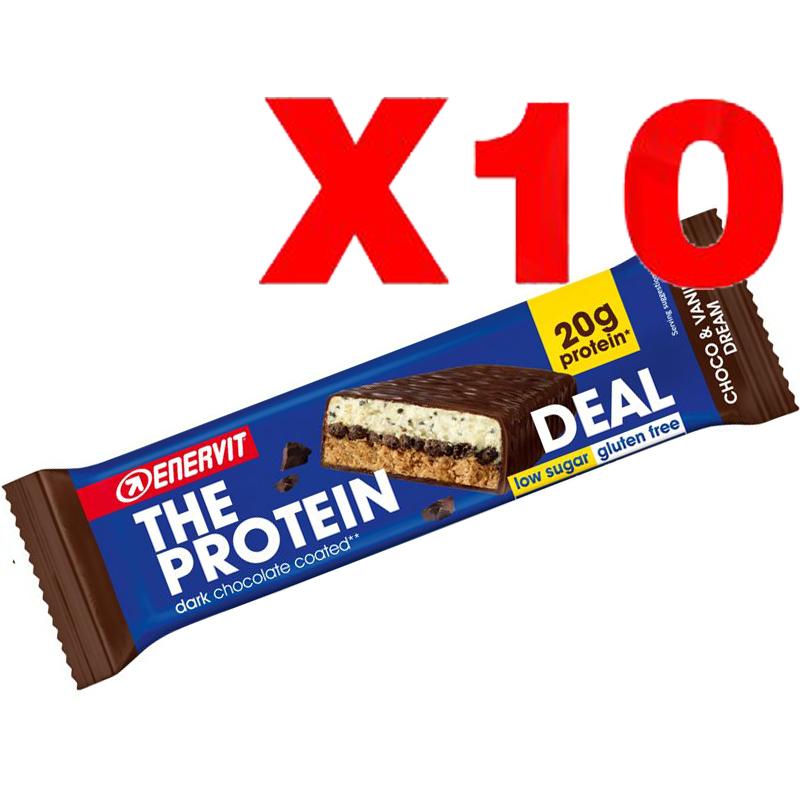 ENERVIT The Protein Deal Bar gusto Choco & Vanilla Dream 55g 10 Barrette Proteiche