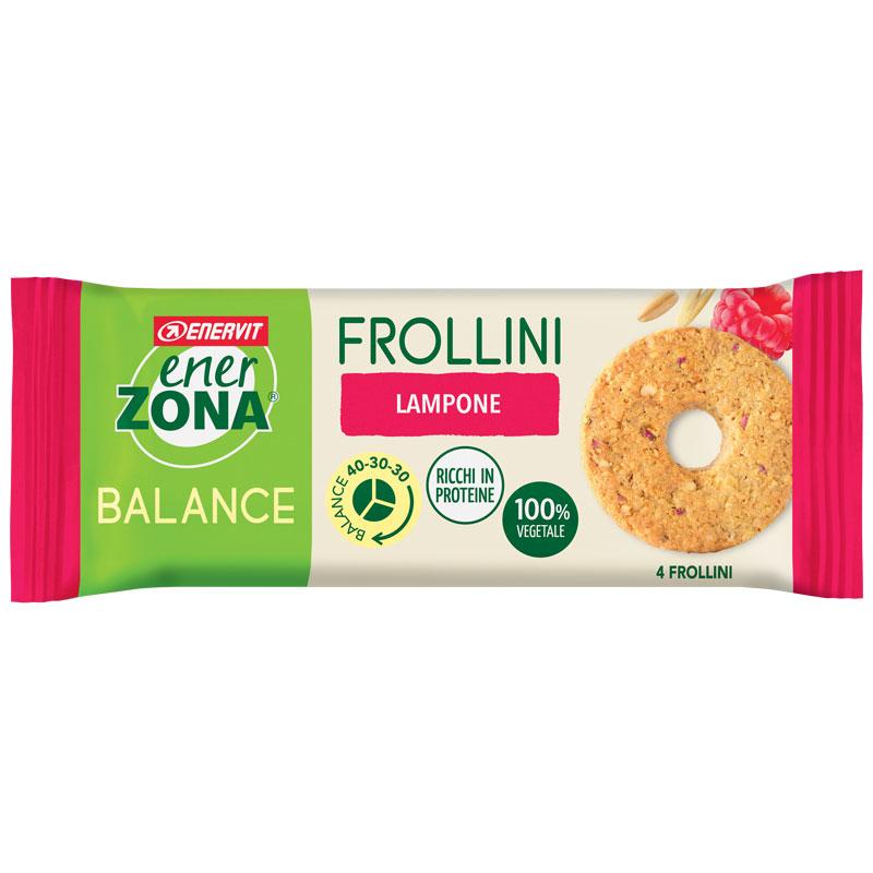 ENERZONA FROLLINO LAMPONE MONO - Frollini Monodose Lampone 1X24g - Frollini Balance 40-30-30 - ENERVIT