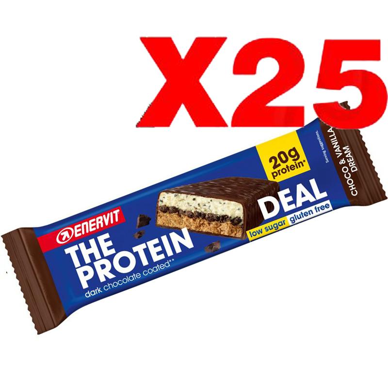 ENERVIT The Protein Deal Bar gusto Choco & Vanilla Dream 55g 25 Barrette Proteiche