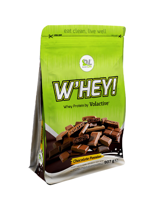 DL W'HEY! WHEY PROTEIN VOLACTIVE - gusto Chocolate Passion 907gr - Proteine in polvere Daily Life