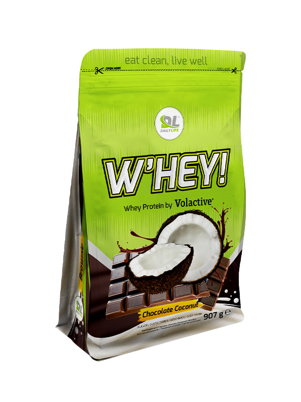 DL W'HEY! WHEY PROTEIN VOLACTIVE - gusto Coconut Chocolate 907gr - Proteine in polvere Daily Life