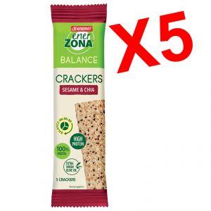 Enerzona 5 Cracker Balance 40-30-30 Sesame & Chia Monodose - Fibre e Proteine