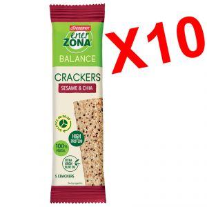 Enerzona 10 Cracker Balance 40-30-30 Sesame & Chia Monodose - Fibre e Proteine