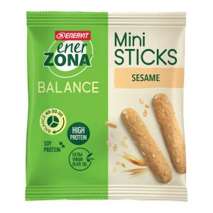 Enerzona Mini Sticks Sesame Snack Balance 40-30-30 Grissini al Sesamo con Proteine della Soia