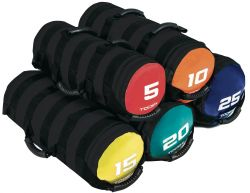 POWER BAG 5 KG Sacca Appesantita colore antracite / rosso con 6 Impugnature Ideale per Crossfit e Functional Training