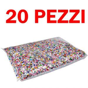 Pacchetto Risparmio - 20 Sacchetti di Coriandoli Carnival Toys da 100 Grammi