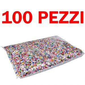 Pacchetto Maxi Risparmio - 100 Sacchetti di Coriandoli Carnival Toys da 100 Grammi