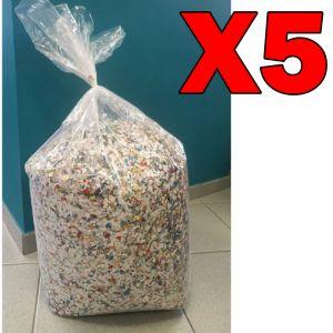 Coriandoli Colorati Multicolor di Produzione 100% Italiana - Formato Maxi Risparmio con 5 Sacchi da 10 kg