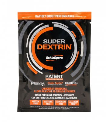 Ethicsport Box 15 buste SUPER DEXTRIN  15X50 g - Fortemente ipotonico con HBCD, Palatinose, Destrine DE6 DE18