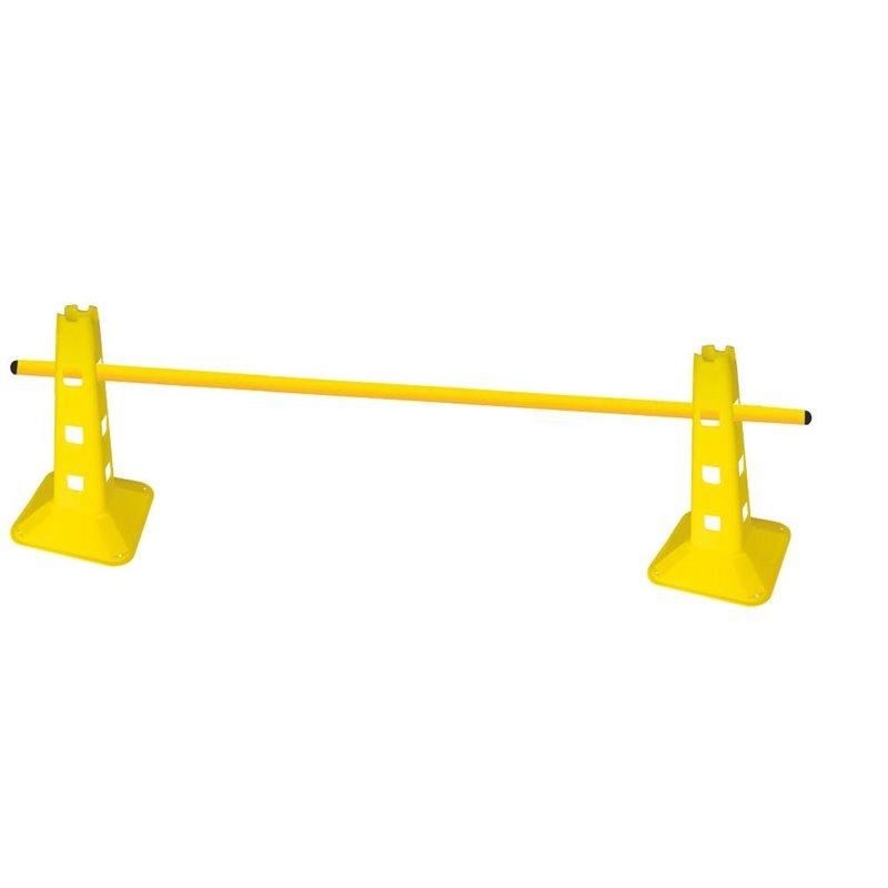 Set 10 coni agility gialli, con 12 fori, altezza 32 cm - Borsa di trasporto inclusa