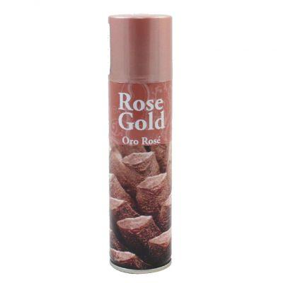 ROSE GOLD SPRAY 150 ML - Bomboletta Spray Rosa Dorato per Decorazioni Natalizie Bricolage Pigne Fiori Carta