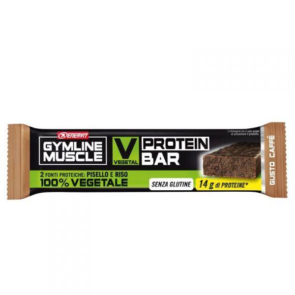 VEGETAL PROTEIN BAR CAFFE' ENERVIT GYMLINE Barretta Proteica 60g - SCADENZA 02/10/2021