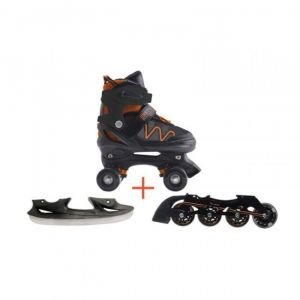 Nextreme Pattini 3 In 1 Flexwheel Taglia L Pattini a rotelle trasformabili in pattini in linea e da ghiaccio