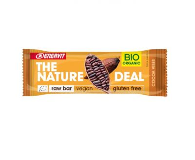 ENERVIT 10 BARRETTE THE NATURE DEAL Gusto Cocoa Vibes  10X30g - Raw Bar datteri, mandorle e cacao - Vegan Gluten Free