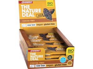 ENERVIT 20 BARRETTE THE NATURE DEAL Gusto Cocoa Vibes 20X30g - Raw Bar datteri, mandorle e cacao - Vegan Gluten Free