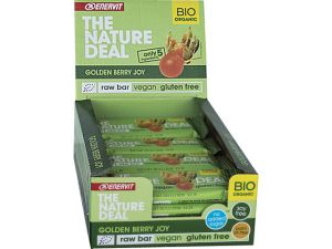 ENERVIT 20 BARRETTE THE NATURE DEAL Gusto Golden Berry joy 20x30g - Raw Bar datteri e bacche di alchechengi - Vegan