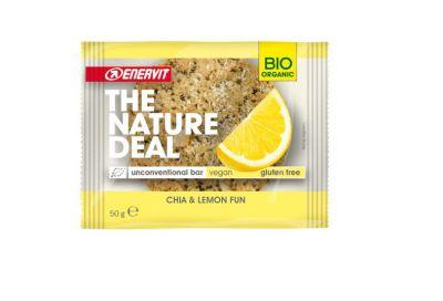 Enervit 4 Snack The Nature Deal unconventional bar Chia & Lemon fun 4x50g - Snack biologico con Chia e Lemon fun