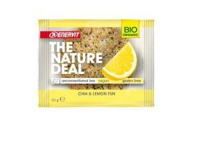Enervit 6 Snack The Nature Deal unconventional bar Chia & Lemon fun 6x50g - Snack biologico con Chia e Lemon fun