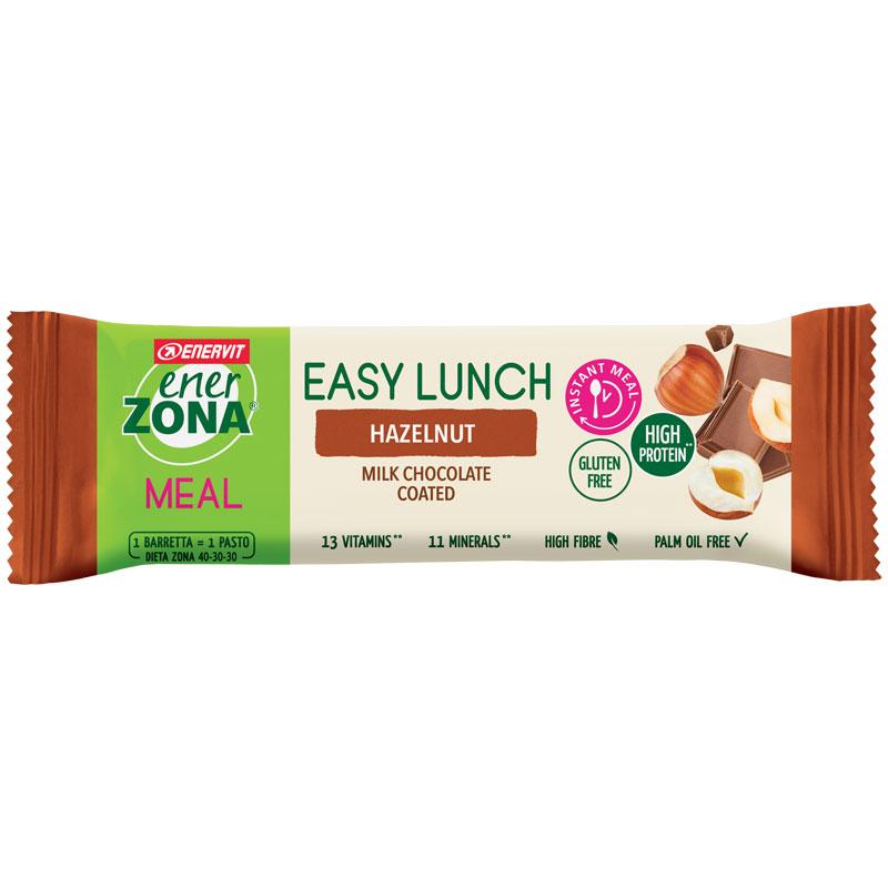 Enerzona Easy Lunch Hazelnut 58g - Barretta con vitamine e minerali - SCADENZA RAVVICINATA 26/11/2021