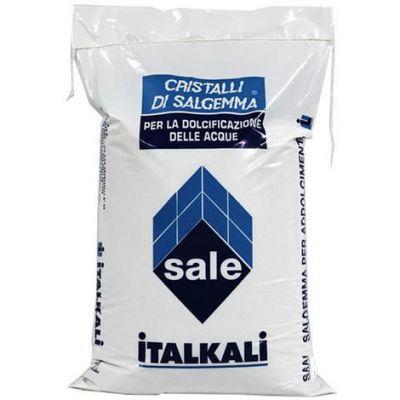 Italkali Cristalli di Salgemma per la Dolcificazione delle Acque 10 Kg - Sale Specifico per Addolcitori