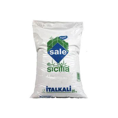 Italkali Sale di Sicilia Alimentare Fino Kg 25 - Salgemma Naturale in cristalli purissimi