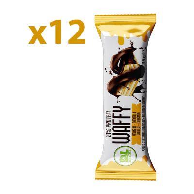 DL Box 12 WAFFY Vaniglia Cannella 12x35 gr - Wafer Proteico - Protein Waffy - 21% Proteine - Senza Olio di Palma