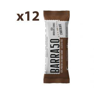 Absolute Series Daily Life Box 12 Barrette proteiche BARRA50 Chocolate 12x50 gr - 40% di Proteine - Gluten Free