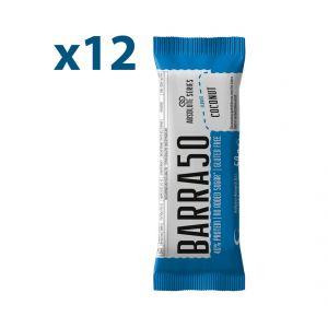 Absolute Series Daily Life Box 12 Barrette proteiche BARRA50 Cocco 12x50 gr - 40% di Proteine - Gluten Free
