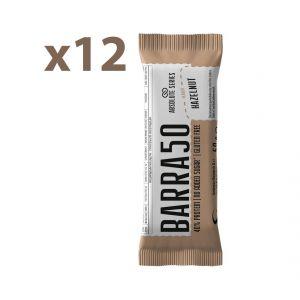 Absolute Series Daily Life Box 12 Barrette proteiche BARRA50 Nocciola 12x50 gr - 40% di Proteine - Gluten Free
