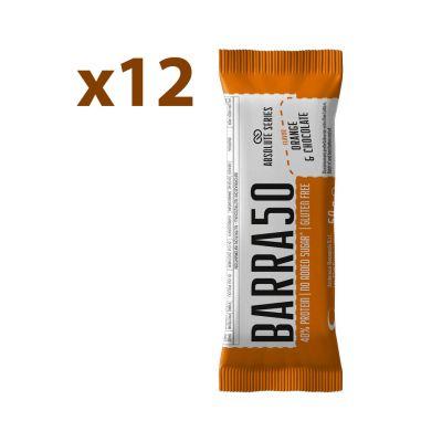 Absolute Series Daily Life Box 12 Barrette proteiche BARRA50 Cioccolato Arancia 12x50gr - 40% di Proteine - Gluten Free