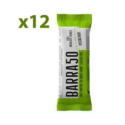 Absolute Series Daily Life Box 12 Barrette proteiche BARRA50 Pistacchio 12x50 gr - 40% di Proteine - Gluten Free
