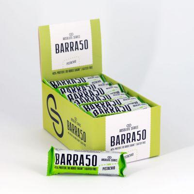 Absolute Series Daily Life Box 24 Barrette proteiche BARRA50 Pistacchio 24x50 gr - 40% di Proteine - Gluten Free