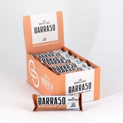 Absolute Series Daily Life Box 24 Barrette proteiche BARRA50 Caramello Salato 24x50 gr - 40% di Proteine - Gluten Free