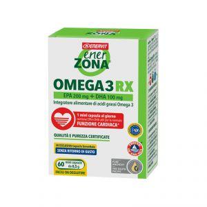 EnerZona Omega 3 RX Blister 45 g 60 mini capsule da 0,5 g - Acidi Grassi Omega 3 EPA 200 mg+DHA 100 mg