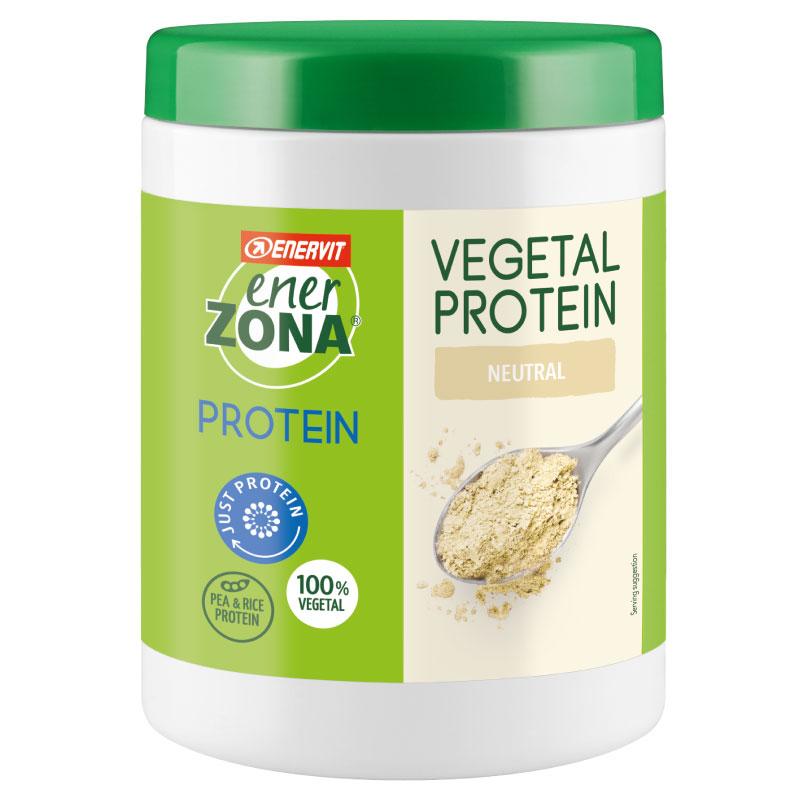 EnerZona Vegetal Protein Barattolo 230 g - Proteine Vegetali del Pisello e del Riso - 100% Vegetale - Gusto Neutro