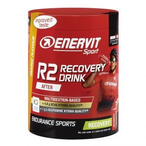 Enervit Sport R2 Recovery Drink 400 g Arancia - Energetico a base di carboidrati, aminoacidi ramificati, L-glutammina