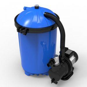 Pompa Filtro Aqualoon 8460 lt/h - Kit diFiltrazione Precaricato con Prefiltro, Pompa da 1/2 HP e 925g di Aqualoon