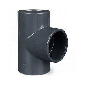 RACCORDO RIGIDO T 90° IN PVC AD INCOLLAGGIO DIAMETRO 50 MM - Produzione Italiana Elevata Qualità