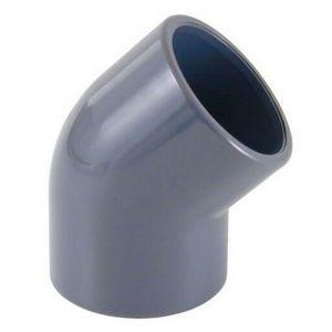 GOMITO RIGIDO 45° F/F AD INCOLLAGGIO DIAMETRO 50 MM - Curva Aperta ideale anche per impianti piscina